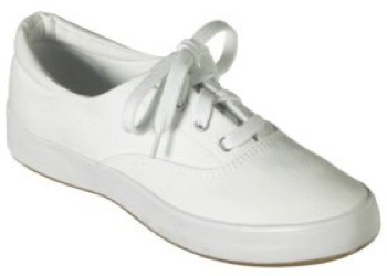 keds plain white shoes