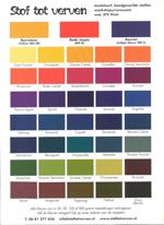 Stof Tot Vervens Procion Dye Mixing Chart 2