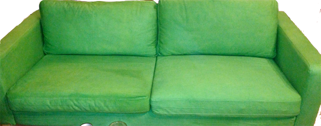 What is the best way to change our sofa cover from streaky ...