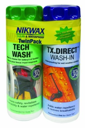 NikWax twin pack tech wash and tx direct wash-in