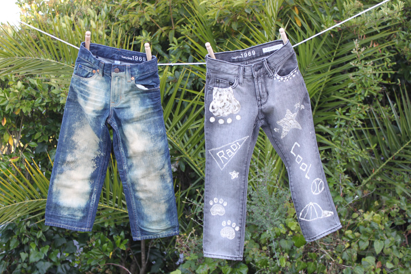 picture from Gap blog at http://gap-mag.com/diy-kiddie-jean-art