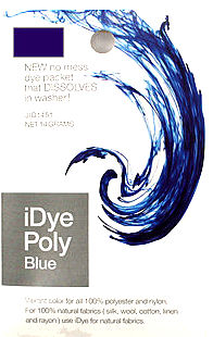 packet of iDye Poly in blue