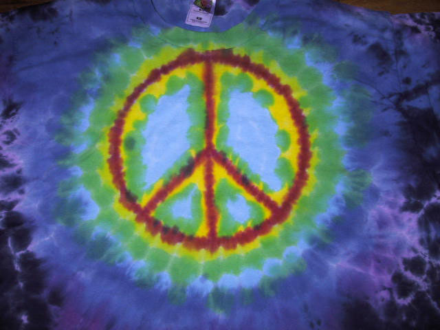 Paula Burch S Hand Dyeing Gallery Drip Dyed Peace Signs