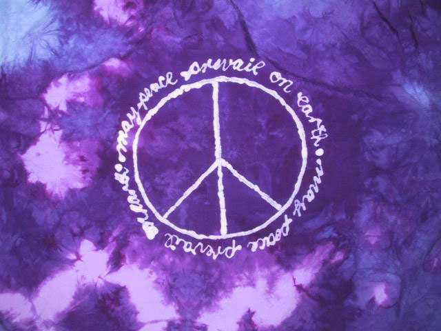 Paula Burchs Hand Dyeing Gallery May Peace Prevail On Earth Single