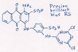 structure of blue R
